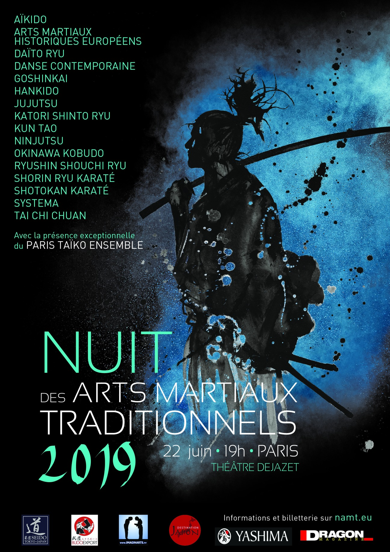2019 06 22 NUIT DES ARTS MARTIAUX TRADITIONNELS PARIS NAMT